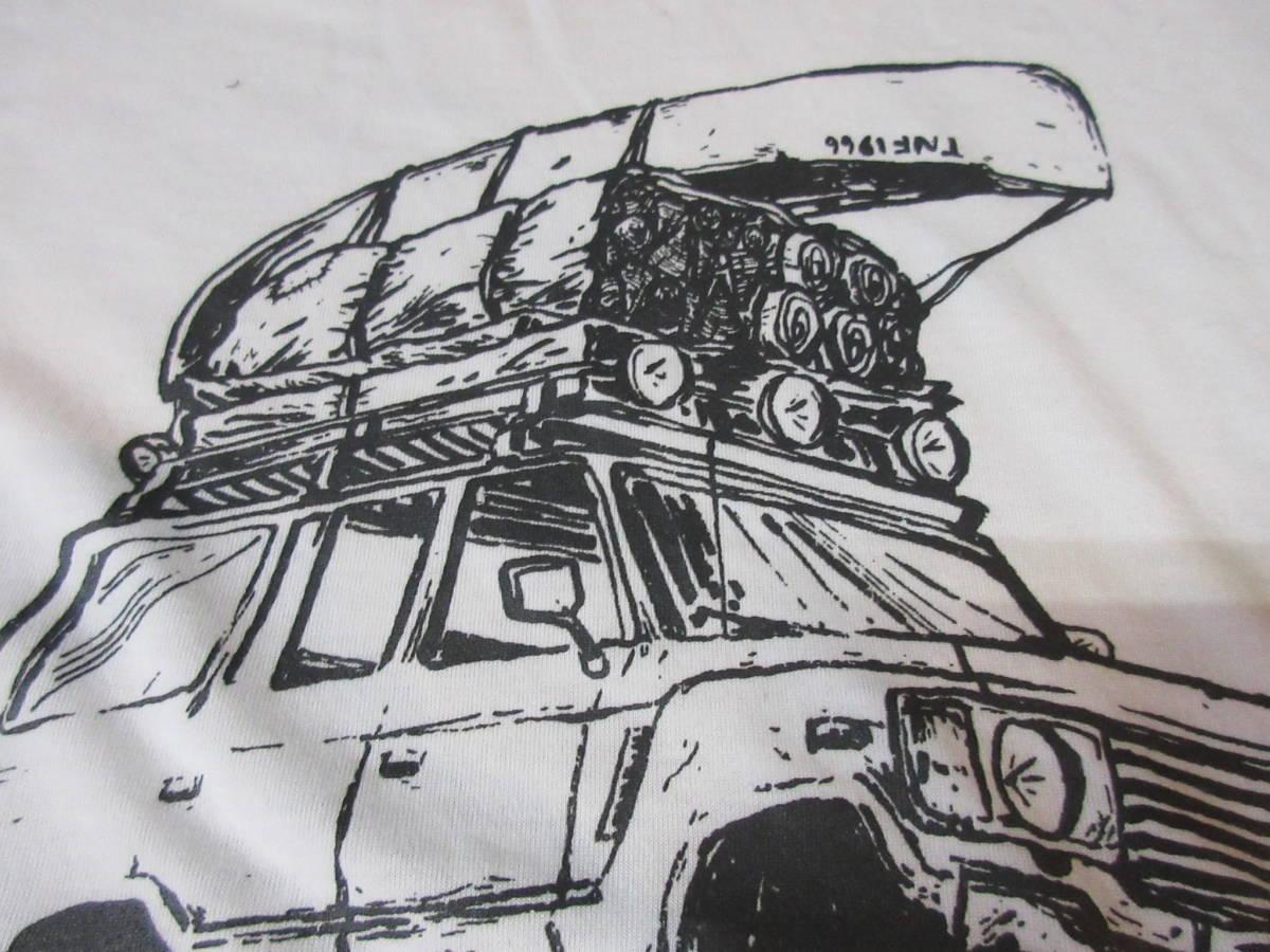 NORTH FACE ポリエステル素材 Tシャツ メンズM 四駆 ゴールドウィン アウトドア クライミング キャンプ カットソー カヌー 速乾_画像8