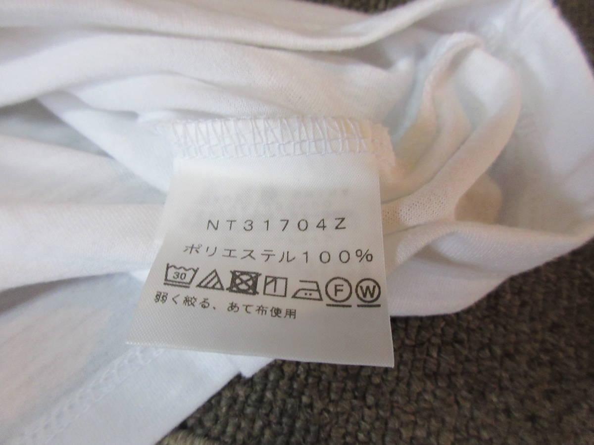NORTH FACE ポリエステル素材 Tシャツ メンズM 四駆 ゴールドウィン アウトドア クライミング キャンプ カットソー カヌー 速乾_画像9