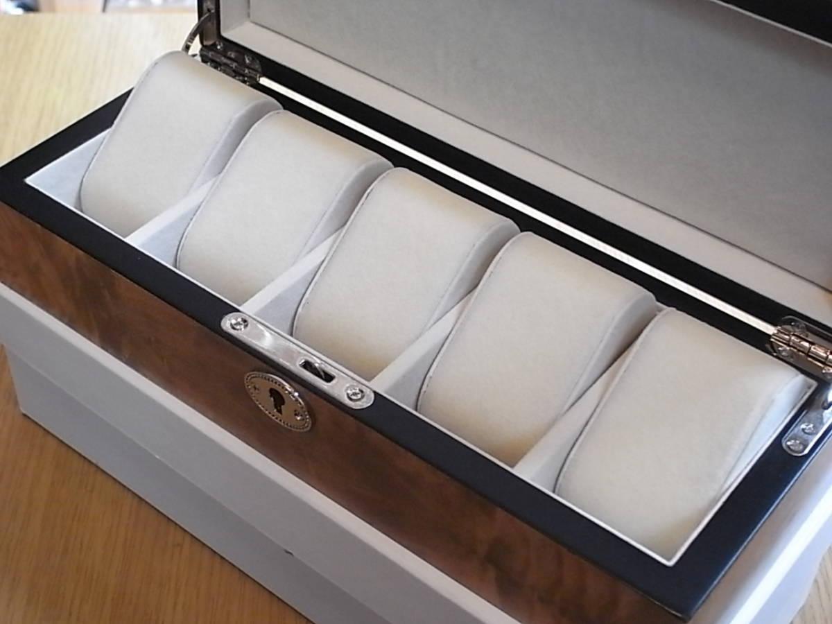 腕時計用 木製コレクションケース 5本収納 時計店の長期在庫品 化粧箱入りデットストック