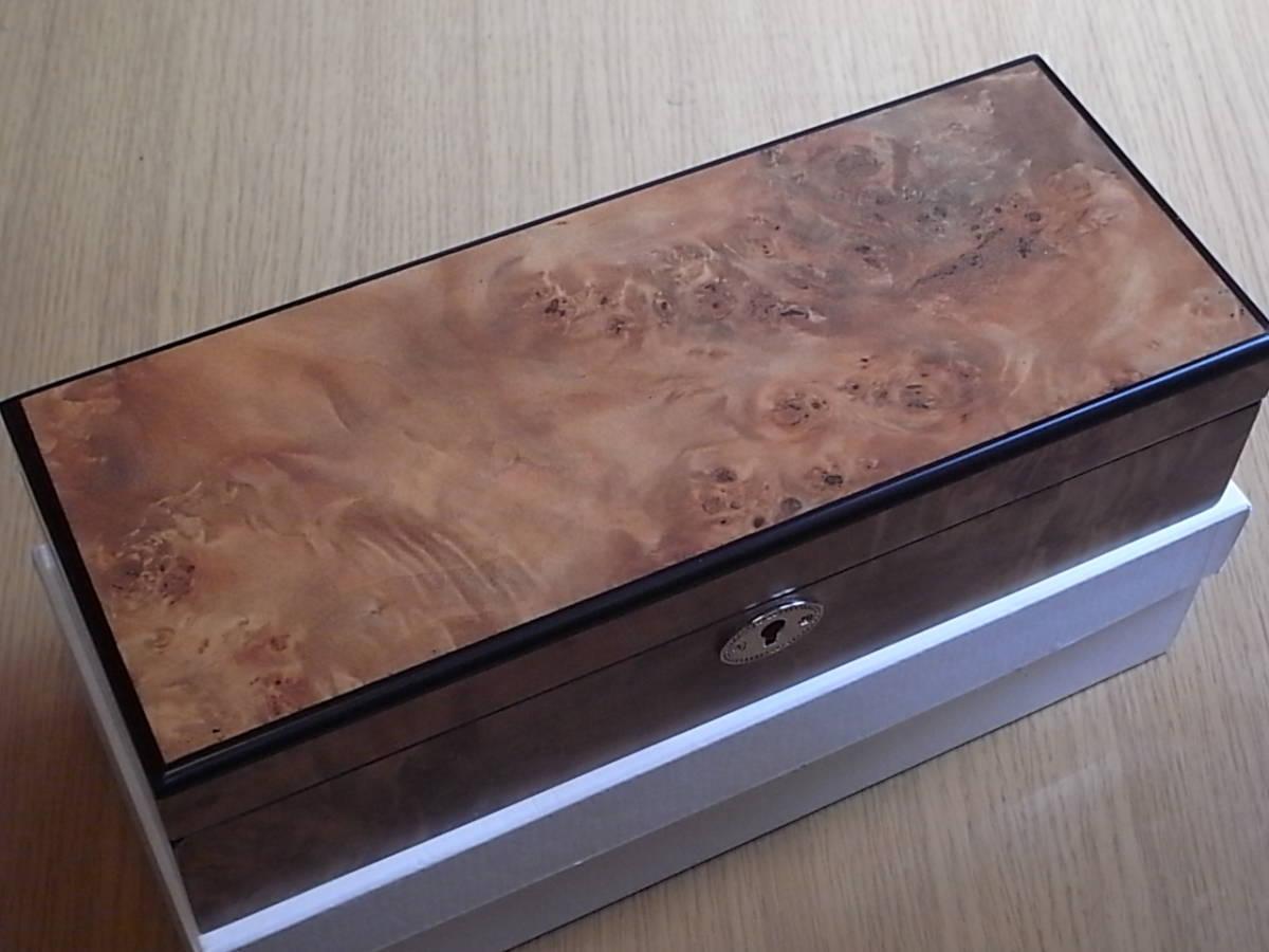 腕時計用 木製コレクションケース 5本収納 時計店の長期在庫品 化粧箱入りデットストック_画像7