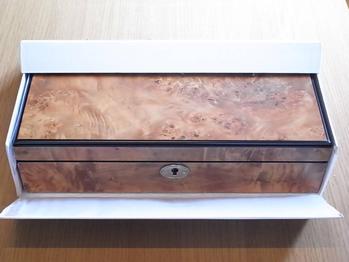 腕時計用 木製コレクションケース 5本収納 時計店の長期在庫品 化粧箱入りデットストック_画像8