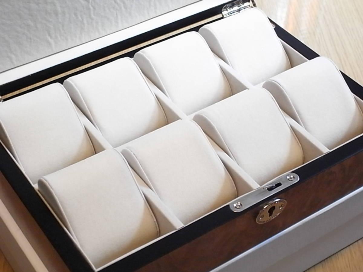 腕時計用 木製コレクションケース 8本収納 時計店の長期在庫品 化粧箱入りデットストック