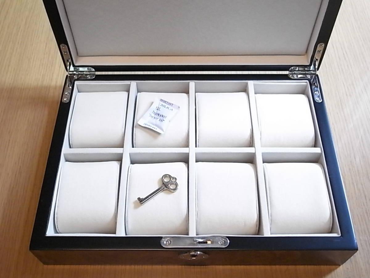 腕時計用 木製コレクションケース 8本収納 時計店の長期在庫品 化粧箱入りデットストック_画像4