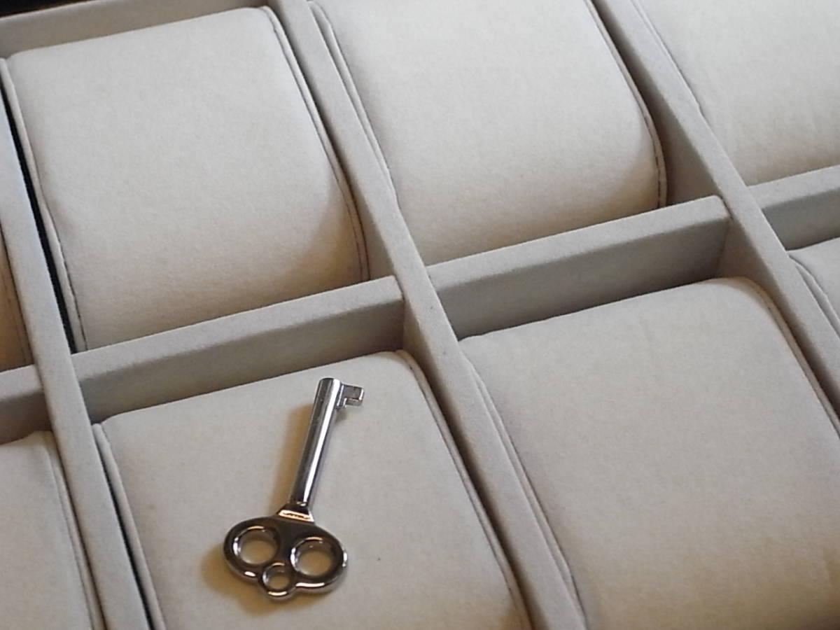 腕時計用 木製コレクションケース 8本収納 時計店の長期在庫品 化粧箱入りデットストック_画像10