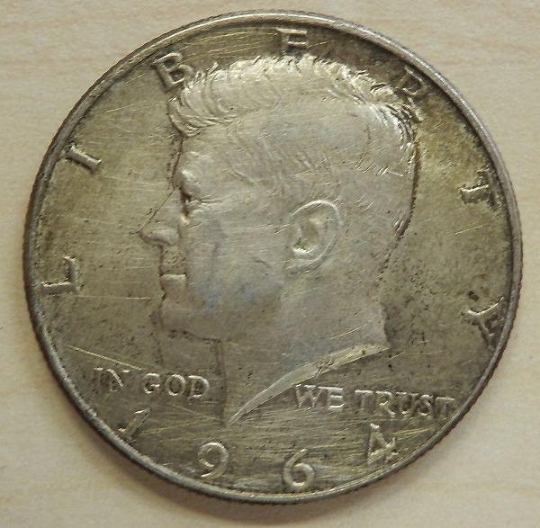 ★アメリカ銀貨 ケネディ銀貨 50セント 1964年 銀900 格安スタート