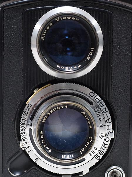 【ジャンク】★2眼レフカメラ AIRESFLEX アイレスフレックス+SEIKOSHA-RAPID F3.5 75mm★_画像6