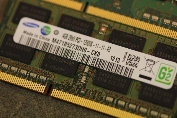 SAMSUNG M471B5173QH0-YK0 / M471B5273DH0-CK0 PC3L-12800S 4GB×2枚 8GB ノートPC用メモリ 動作補償あり_画像2