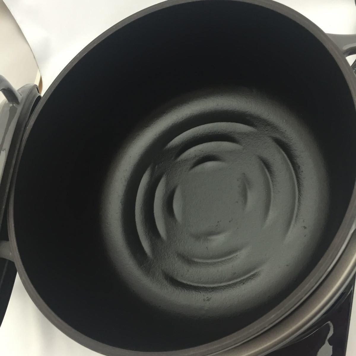X104 バーミキュラー ライスポット 炊飯器 5号炊き RP23A-GY トリュフグレー 美品_画像2