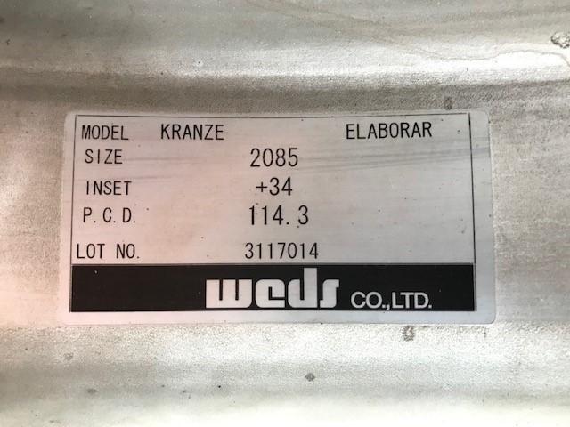 20インチ タイヤホイールセット ウェッズ クレンツェ エルアボラ 2ピース  20X9.5J 20x8.5J インセット+34 PCD:114.3 _画像10