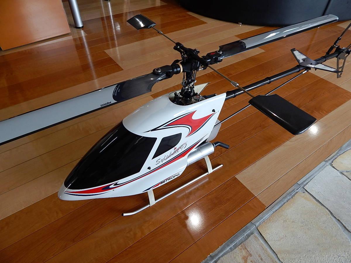 超美品 JR PROPO シルフィード90 競技用ヘリ 完成品 フルセット プロポPCM12X 飛行3回のみ エンジン0S,MAX-91SZ-HRING_画像2