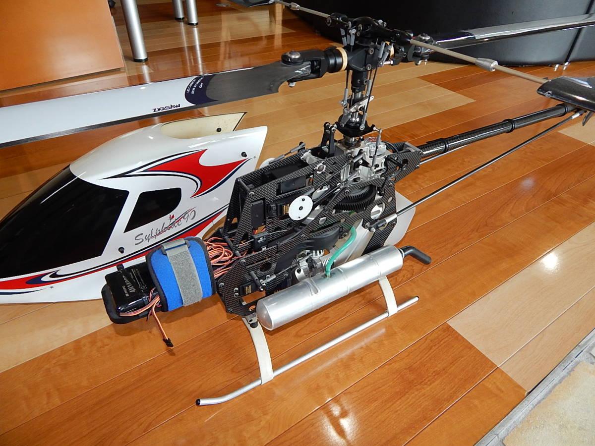 超美品 JR PROPO シルフィード90 競技用ヘリ 完成品 フルセット プロポPCM12X 飛行3回のみ エンジン0S,MAX-91SZ-HRING_画像3