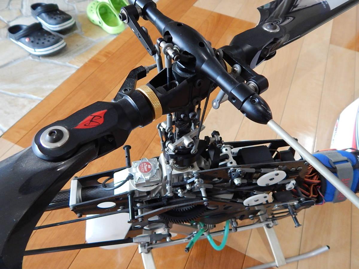 超美品 JR PROPO シルフィード90 競技用ヘリ 完成品 フルセット プロポPCM12X 飛行3回のみ エンジン0S,MAX-91SZ-HRING_画像4