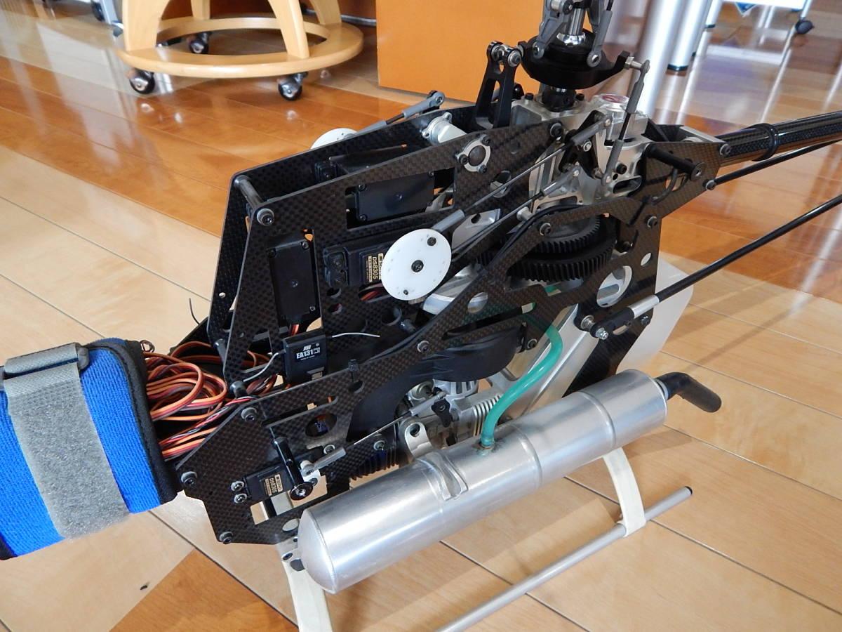 超美品 JR PROPO シルフィード90 競技用ヘリ 完成品 フルセット プロポPCM12X 飛行3回のみ エンジン0S,MAX-91SZ-HRING_画像7