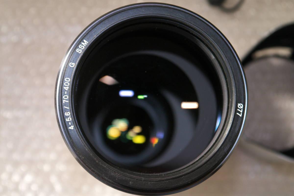 sony α99【SLT-A99V】 と SONY 70-400mm F4-5.6 G SSMシルバー αマウント Aマウント 中古品_画像9