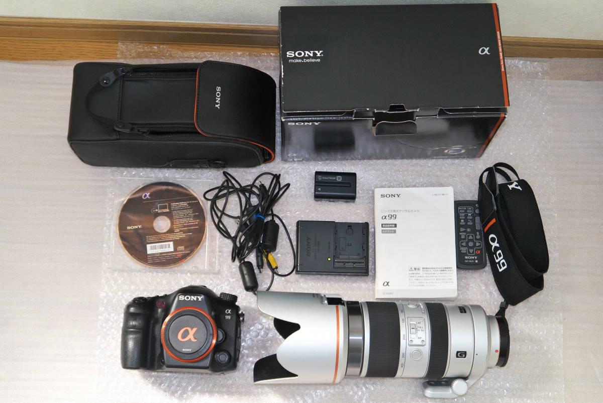 sony α99【SLT-A99V】 と SONY 70-400mm F4-5.6 G SSMシルバー αマウント Aマウント 中古品