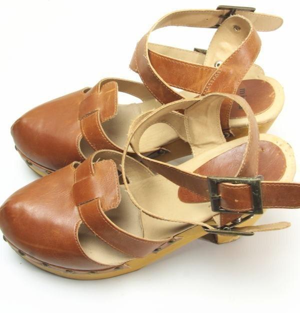★ac863☆minia ウェッジ サンダル アーバンリサーチ購入 サイズL ブラウン 茶系 レディースシューズ 靴 厚底_画像4
