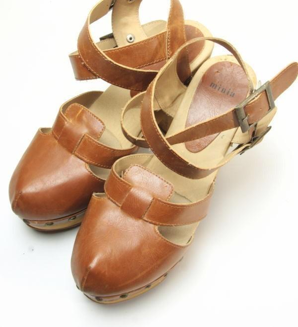 ★ac863☆minia ウェッジ サンダル アーバンリサーチ購入 サイズL ブラウン 茶系 レディースシューズ 靴 厚底_画像6