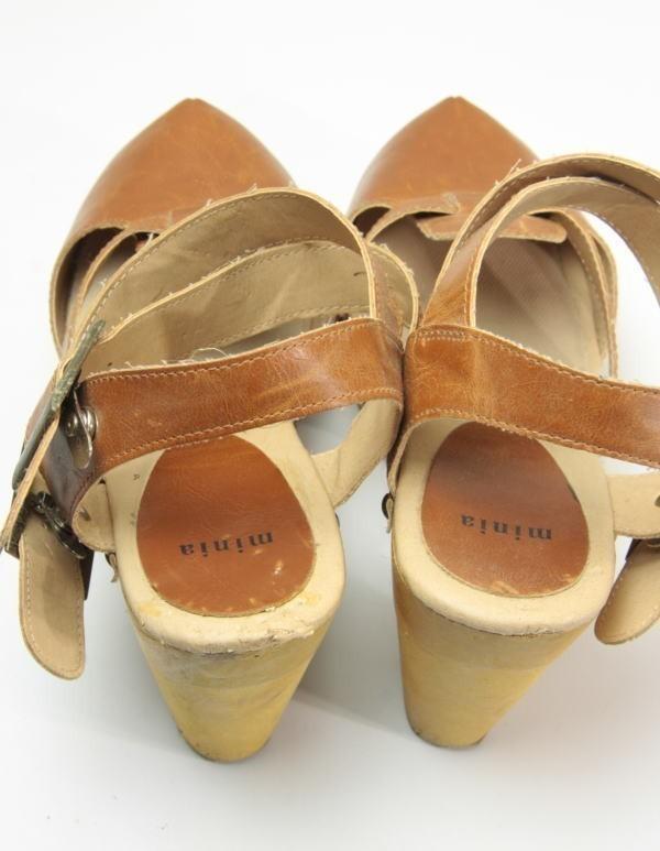 ★ac863☆minia ウェッジ サンダル アーバンリサーチ購入 サイズL ブラウン 茶系 レディースシューズ 靴 厚底_画像2