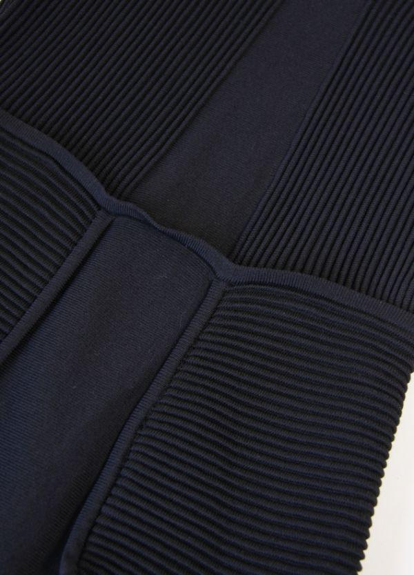 ★B455☆ ロディエ Rosier フランス製 高級 老舗 ニット ワンピース 構築的な美しいフォルム ドゥロワー取扱いブランド 大人ドレス 黒_画像4