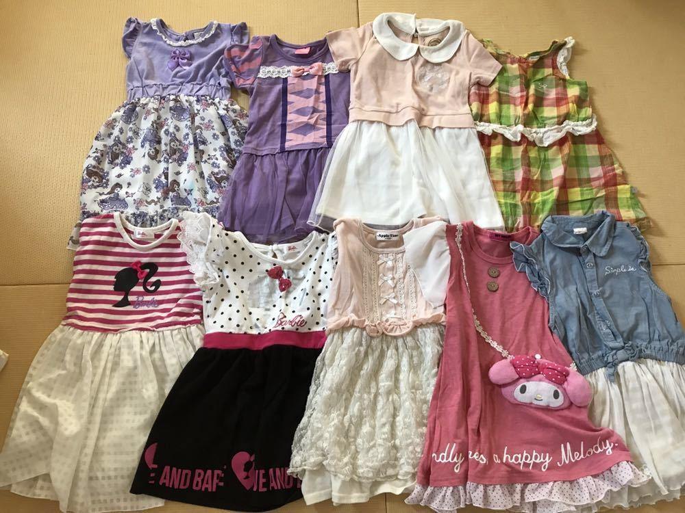 女の子 夏服 福袋 100 110 120サイズまとめて30点 ワンピース Tシャツ メゾピアノ マイメロ プリキュア バービー _画像4