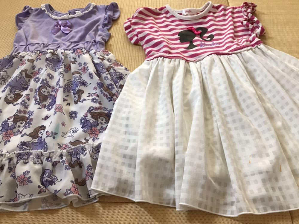 女の子 夏服 福袋 100 110 120サイズまとめて30点 ワンピース Tシャツ メゾピアノ マイメロ プリキュア バービー _画像5