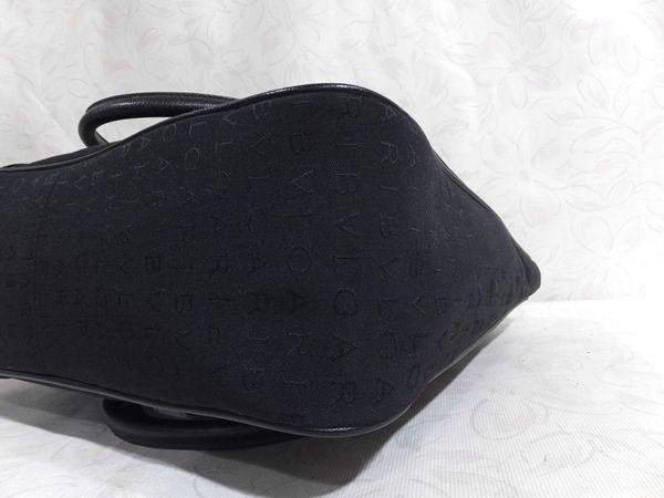 【超美品/SA】◆本物◆BVLGARI ブルガリ バッグ トートバッグ 37cm 肩掛け可 ジャガード レザー 黒 取説付き_画像10