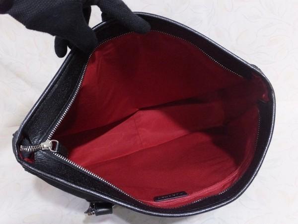 【超美品/SA】◆本物◆BVLGARI ブルガリ バッグ トートバッグ 37cm 肩掛け可 ジャガード レザー 黒 取説付き_画像5
