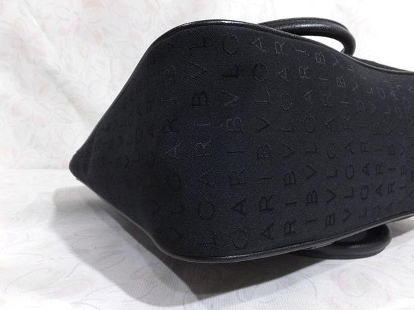 【超美品/SA】◆本物◆BVLGARI ブルガリ バッグ トートバッグ 37cm 肩掛け可 ジャガード レザー 黒 取説付き_画像9