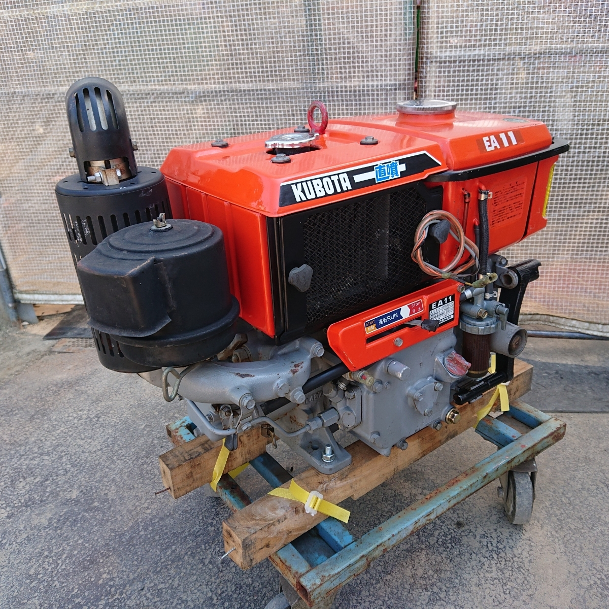 クボタ ディーゼルエンジン EA11 10.5馬力 発動機 実働品 直噴_画像4