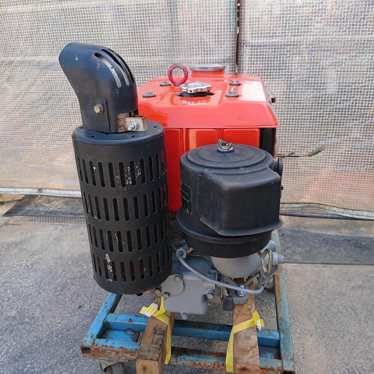クボタ ディーゼルエンジン EA11 10.5馬力 発動機 実働品 直噴_画像7