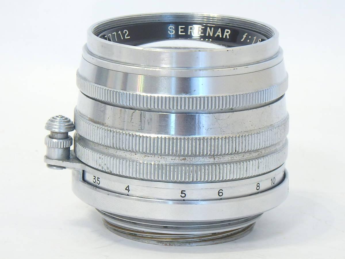 Canon SERENAR 50mm F1.8 for LEICA screw L39 希少なセレナ―レンズ!SUMMICRON に匹敵 価値あるオールドキヤノンをコレクションに!_画像3