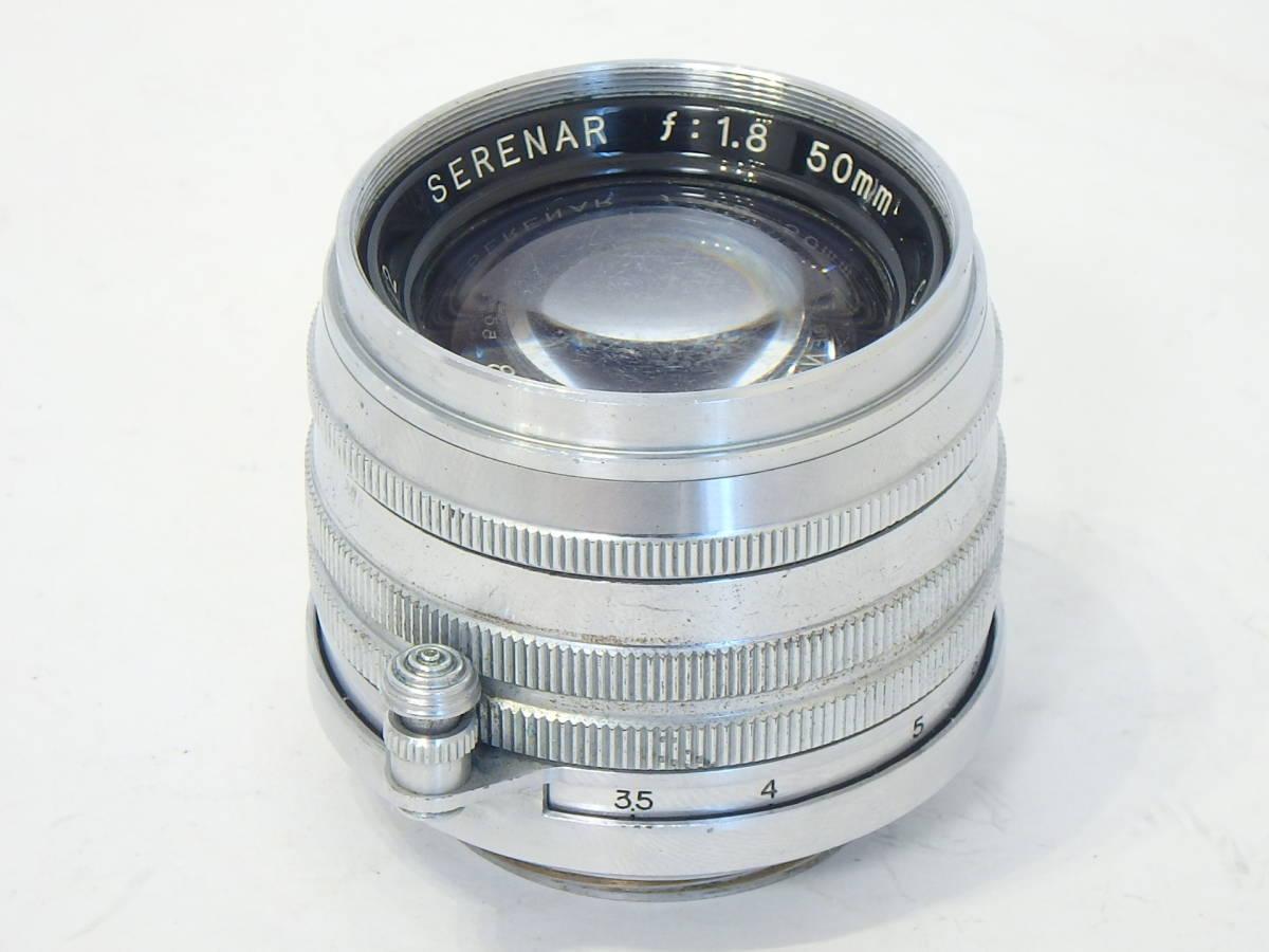 Canon SERENAR 50mm F1.8 for LEICA screw L39 希少なセレナ―レンズ!SUMMICRON に匹敵 価値あるオールドキヤノンをコレクションに!_画像2