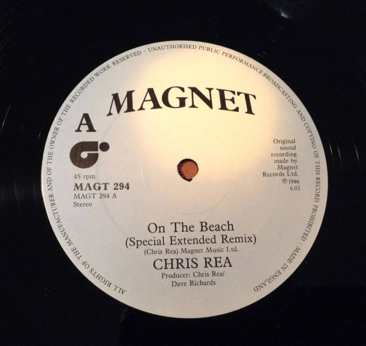 超人気☆激レア!オリジナルU.K.盤12' CHRISREA /ON THE BEACH_画像2