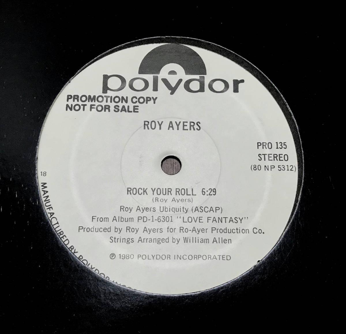 目玉!!幻のUSプロモ盤12' ROY AYERS /ROCK YOUR ROLL