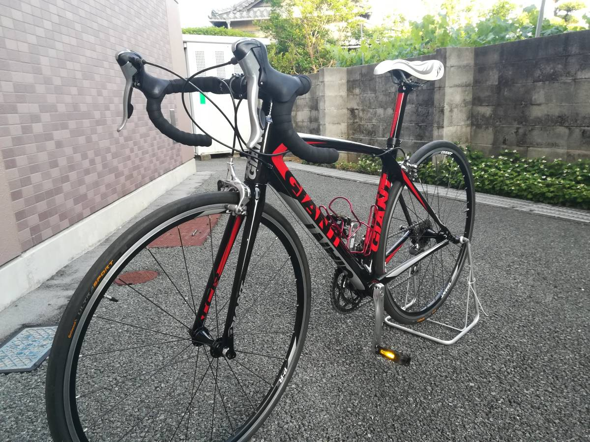☆★美品!フルカーボン ロードバイク 20速 GIANT TCR COMPOSITE3(465mm)(S)ジャイアント 165~175cm ロングライド サイクリング ★☆_画像2