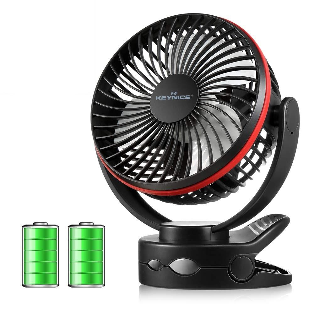 【新品★1円~】usb扇風機 卓上扇風機 クリップ 充電式 ファン 超強風 静音 風量4段階調節 360度角度調整 LEDライト機能付