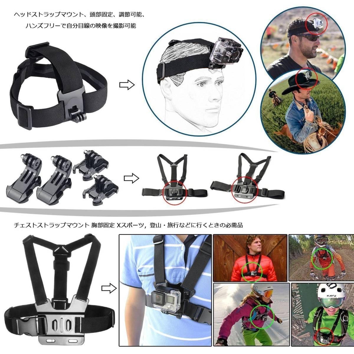 最新2018年モデル GoPro Hero 7 Black ゴープロ レンタル 4泊5日 アクセサリー フルセット バッテリー3個 前日お届け アクションカメラ_画像3