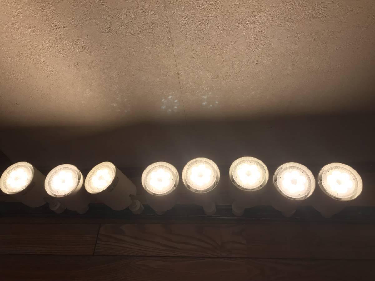 【LED電球付】 ナショナル 配線ダクト用スポットライト 電球色 10台セット E11 _画像7