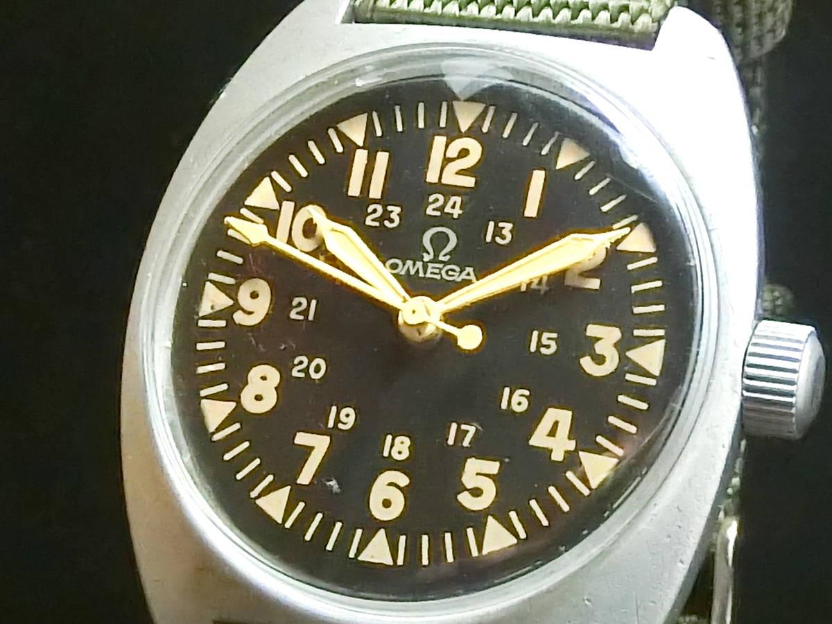 ★逸品 英国 軍用時計★OMEGA オメガ★ブロードアロー イギリス軍 官有物 ミリタリー ★アンティーク 腕時計 手巻き 動作品★_画像2
