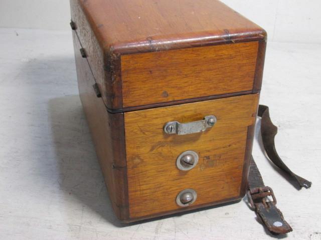 大正13年 沖電気 エボナイト 受話器 木製 電話機 戦前 アンティーク_画像3