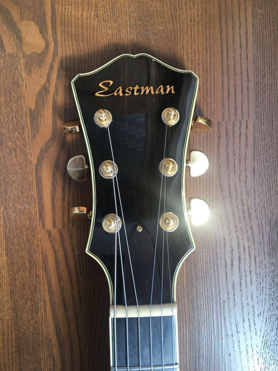 【絶版】Eastman イーストマン T-146 SMD サンバースト 単板削り出し フルアコ ハードケース ジャズ ピックギター アーチトップ 生産終了_画像3