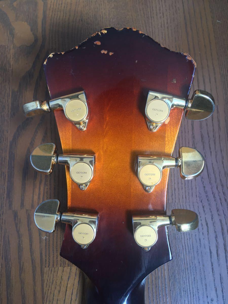 【絶版】Eastman イーストマン T-146 SMD サンバースト 単板削り出し フルアコ ハードケース ジャズ ピックギター アーチトップ 生産終了_画像4
