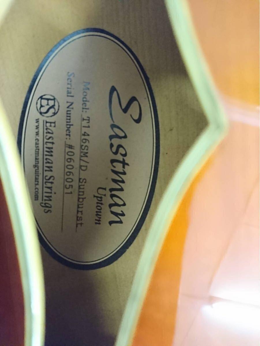 【絶版】Eastman イーストマン T-146 SMD サンバースト 単板削り出し フルアコ ハードケース ジャズ ピックギター アーチトップ 生産終了_画像9