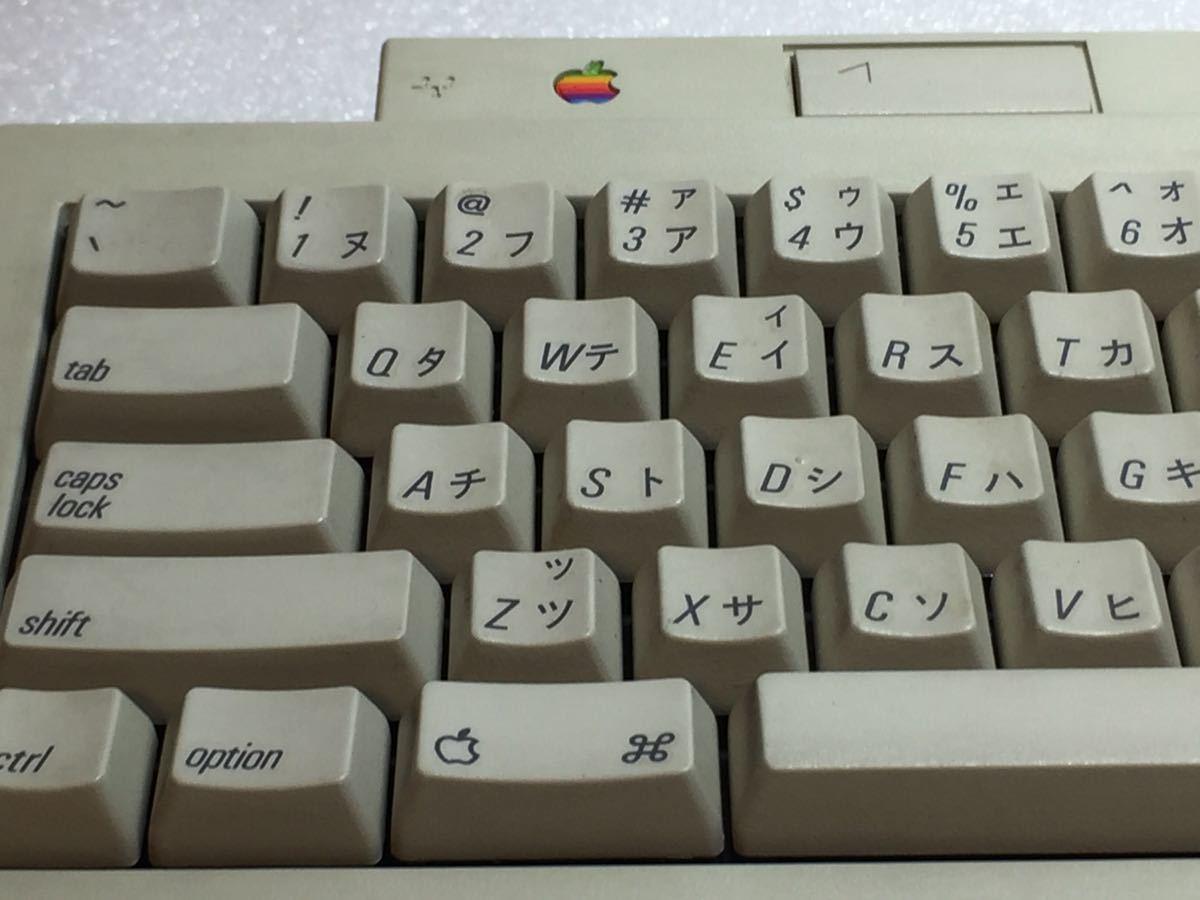 Apple keyboard Ⅱ FCC ID:BCGM0487 Macintosh アップルキーボード2 動作未確認 使用少なめ 中古_画像6