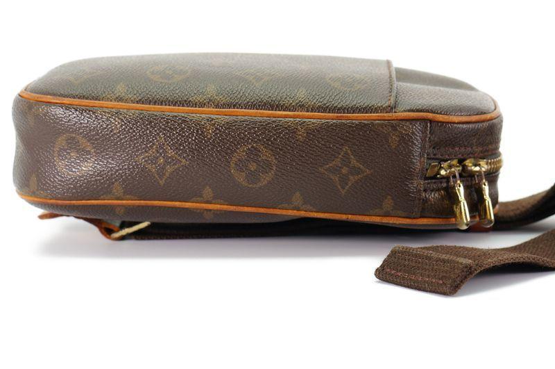 ルイヴィトン Louis Vuitton モノグラム ガンジュ M51870 ボディバッグ ワンショルダー ポシェット 定価約12.3万 _画像4