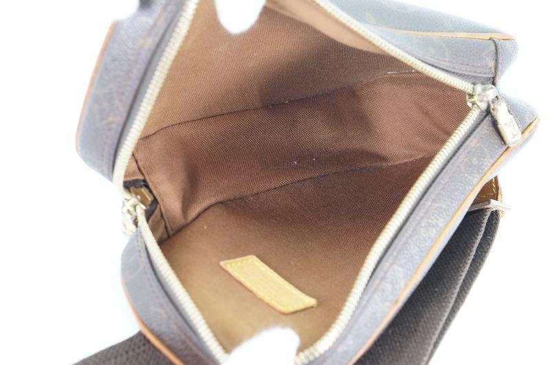 ルイヴィトン Louis Vuitton モノグラム ガンジュ M51870 ボディバッグ ワンショルダー ポシェット 定価約12.3万 _画像10