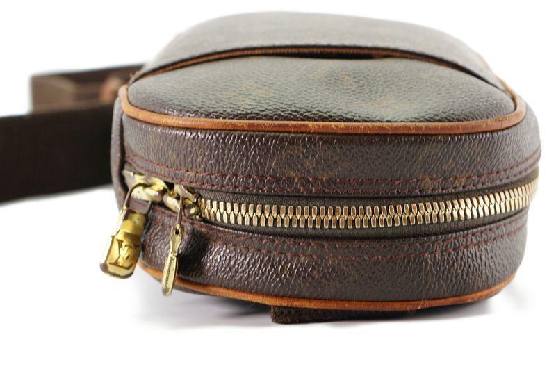 ルイヴィトン Louis Vuitton モノグラム ガンジュ M51870 ボディバッグ ワンショルダー ポシェット 定価約12.3万 _画像6