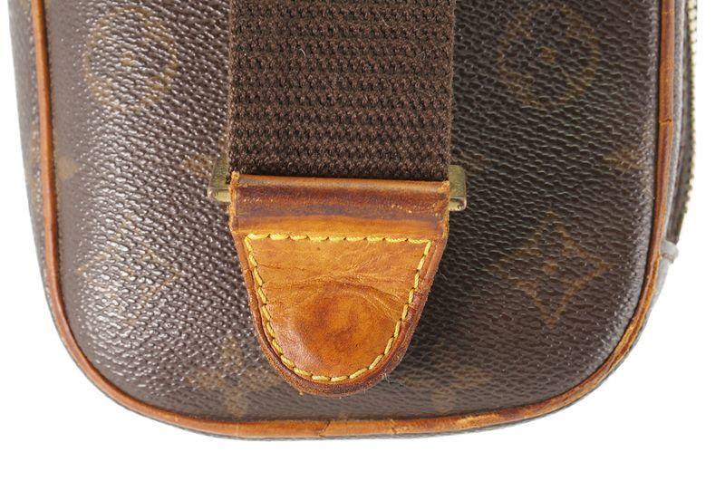 ルイヴィトン Louis Vuitton モノグラム ガンジュ M51870 ボディバッグ ワンショルダー ポシェット 定価約12.3万 _画像8