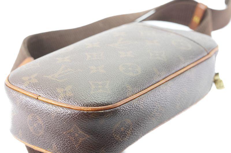 ルイヴィトン Louis Vuitton モノグラム ガンジュ M51870 ボディバッグ ワンショルダー ポシェット 定価約12.3万 _画像7