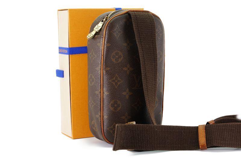 ルイヴィトン Louis Vuitton モノグラム ガンジュ M51870 ボディバッグ ワンショルダー ポシェット 定価約12.3万 _画像2
